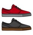 skateboard shoes vector image