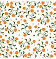 small flowers pattern on white background vector image