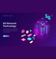 smart city 5g wireless network technology concept vector image
