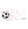 soccer or football banner with ball sports vector image vector image