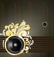 speaker and golden swirls vector image