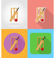 sport flat icons 03 vector image