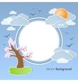 Spring round background vector image