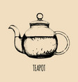 teapot hand drawn transparent vector image