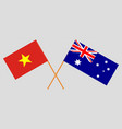 the australian and vietnamese flags vector image vector image