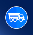 Tipper truck building icon button logo symbol