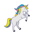 unicorn fantasy horse cartoon blue lines vector image vector image