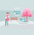 valentine s day romantic beloved couple hugs vector image vector image