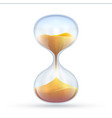 vintage hourglass 3d sand clock vector image vector image