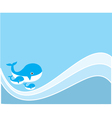 water whale vector image vector image