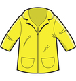 Yellow Rain Coat vector image