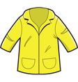 Yellow Rain Coat vector image vector image