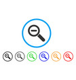 zoom out rounded icon vector image