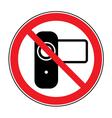 No shoot video sign vector image