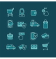 Shopping and Ecommerce Web Store Icons Set vector image