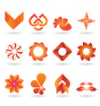 Orange Logo set vector image