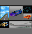 set of abstrct cars vector image