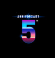5 years anniversary celebration logotype colorful vector image
