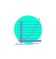 arrow chart curve experience goal glyph icon vector image vector image