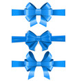 blue ribbon bows set vector image vector image