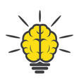 brain light bulb icon vector image vector image