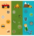 Camping banners vertical set vector image vector image