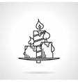 Candles black line icon vector image