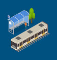 city public transport modern train 3d isometric vector image vector image