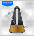 classic metronome on transparent background vector image vector image