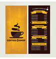 Coffee house menu restaurant template design vector image vector image