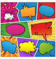 comic colorful blank speech bubbles set vector image