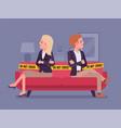 couple quarrel home scene vector image vector image