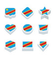 democratic republic of the congo flags icons and vector image