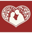 design of a set hearts shape lovers vector image vector image