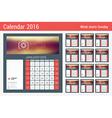 Desk Calendar for 2016 Year Stationery Design vector image vector image