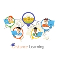 Distance learning vector image vector image