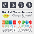 Dollar icon sign Big set of colorful diverse vector image