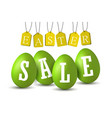 easter egg text sale happy easter eggs 3d vector image vector image