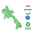 eco green collage laos map vector image vector image