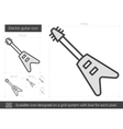 Electric guitar line icon vector image vector image