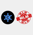 euro people company icon and scratched mlm vector image vector image