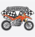 extreme supermoto design logo concept vector image vector image