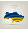 flag ukraine as a country vector image