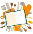 Flat design banner of kitchenware isolated vector image vector image