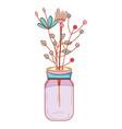 flower decoration cartoon vector image