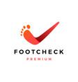 foot feet check podiatric logo icon vector image
