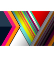 geometric background colorful vector image
