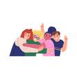 happy children hug together for friendship concept vector image