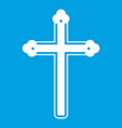 holy cross icon white vector image vector image
