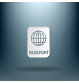 international passport Symbol of travel Icon vector image